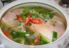 Canh cá điêu hồng nấu ngót