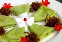 Bánh Crepe lá dứa cốt dừa
