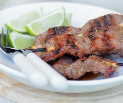 Thịt bò nướng sốt sả gừng