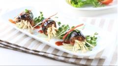 Lươn cuộn nấm sốt ngũ vị hương