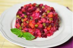 Salad tím hồng