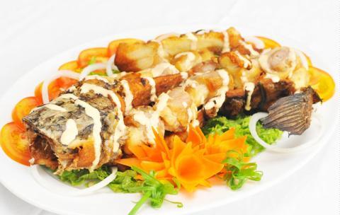 Cá lóc cuộn ba rọi nướng