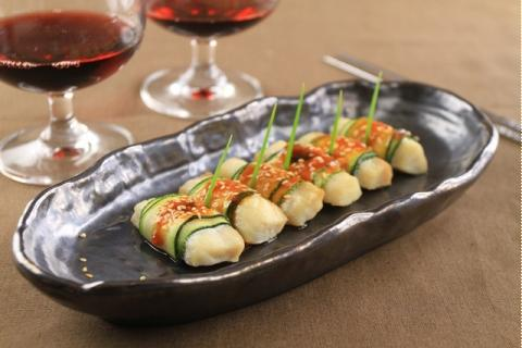 Bí ngòi cuộn philê cá lóc nướng