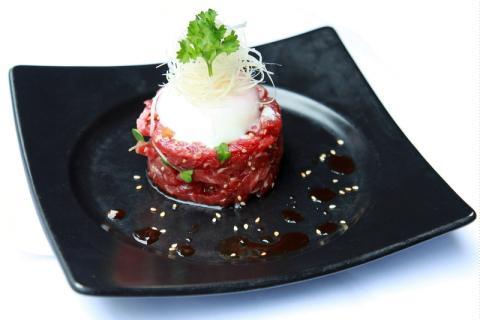 Sashimi bò trộn