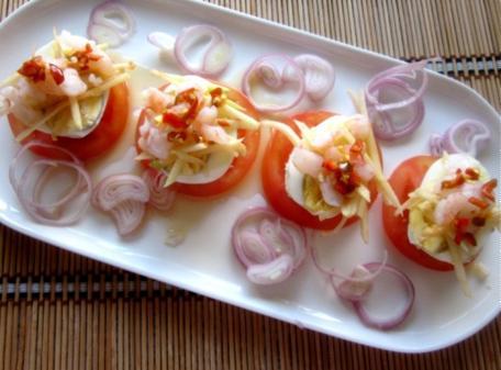 Trứng salad táo