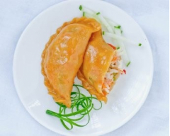 Bánh gối khoai lang nhân rau củ