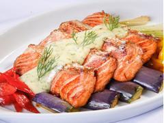 Cá hồi nướng xốt mayonnaise