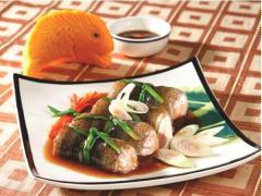 Lươn cuộn thịt băm