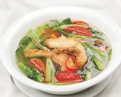 Canh cá rau cần