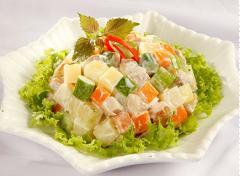 Salad khoai tây thịt gà