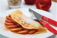 Pancake nhân táo xào bơ