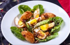 Salad trứng rán