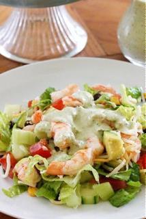 Salad tôm đậu dưa chuột
