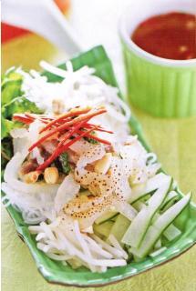 Bún sứa xào thịt nạc
