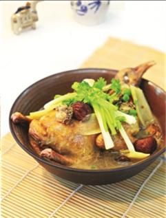 Bào ngư nấu bồ câu