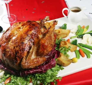 Gà tây nhồi thịt đút lò