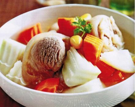 Canh súp bạch quả