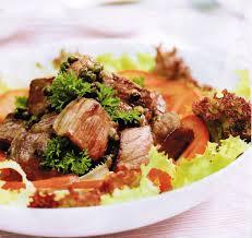 Bò xào tiêu xanh dầu giấm