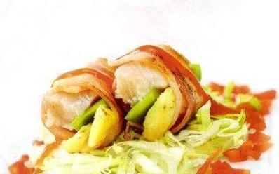 Cá cuộn dứa nướng